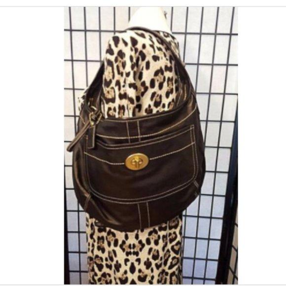 Coach Handbags - COACH ERGO GLOVE TANNED LEGACY BLACK LEATHER CALFS